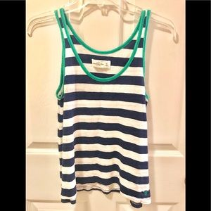 Abercrombie & Fitch Tank. XS.  Navy, white, green.